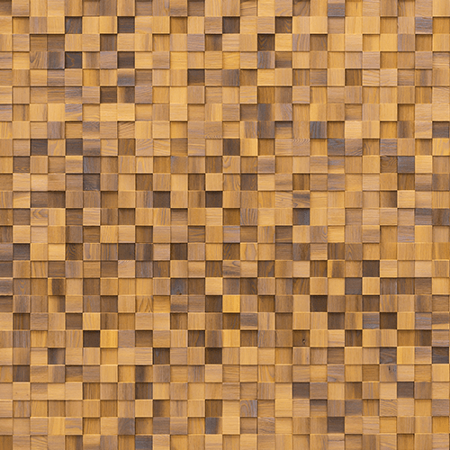 Cubetti Design | Wooden wallcovering | Allure