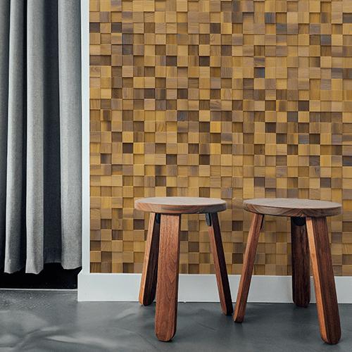 Cubetti Design | Wooden wallcovering | Allure
