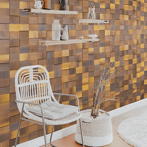 Cubetti Design | Wooden wallcovering | Aurora