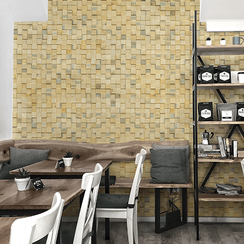 Cubetti Design | Wooden wallcovering | Summer